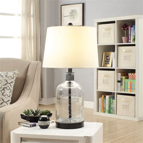 Crestview Collection Melanie Glass And Metal Table Lamp.