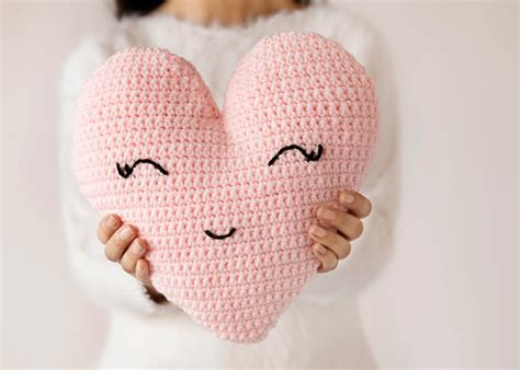 Crochet Heart Pillow