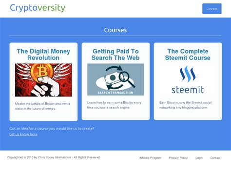 [click]cryptoversity   Online Cryptocurrency School  Cb Product .