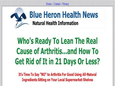 @ Cure Arthritis Naturally   Blue Heron Health News  Reviewsban.