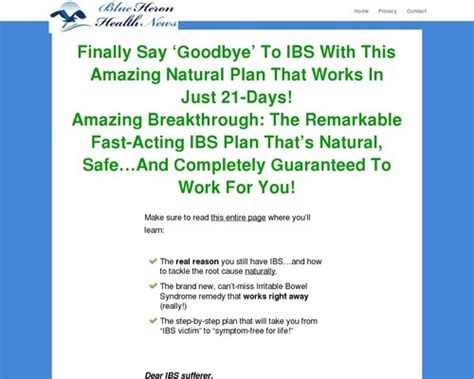 @ Cure Ibs Naturally  8211 Blue Heron Health News By .