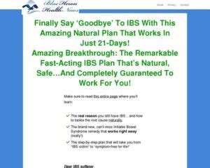 [click]cure Ibs Naturally - Blue Heron Health News Review - Video .