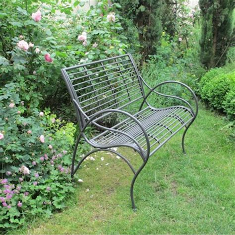 Curved Garden Benches Metal