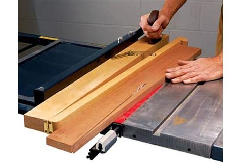 Cutting Tapers On A Table Saw