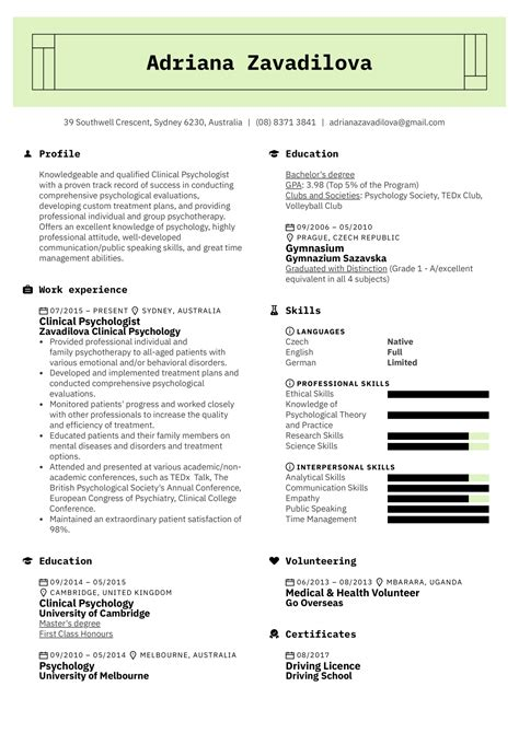 cv format psychology - Resume Builder Free No Sign Up