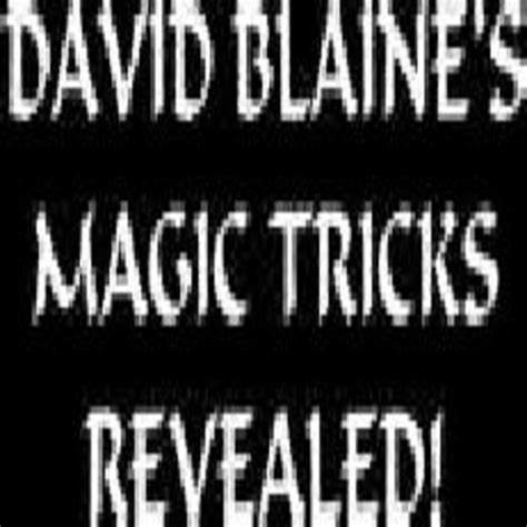 [pdf] David Blaine  S Magic Tricks Revealed - Oocities.