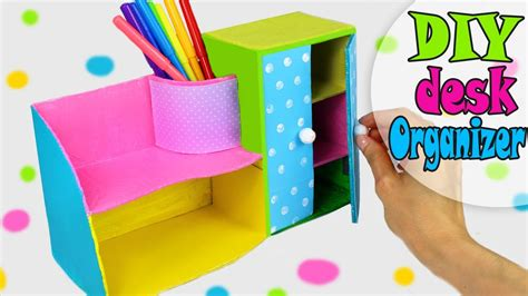 @ Diy Desk Organizer Cute  Easy