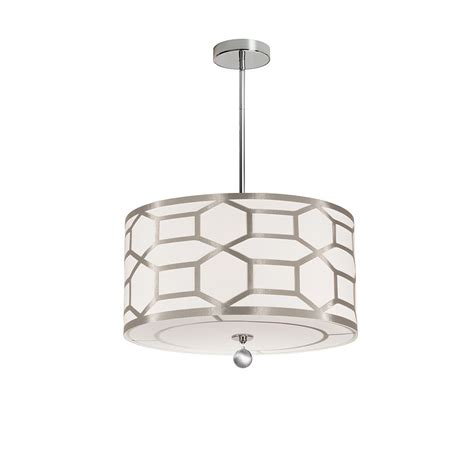 Dainolite Lazaro 4-Light Pendant With Cutout Drum Shade .