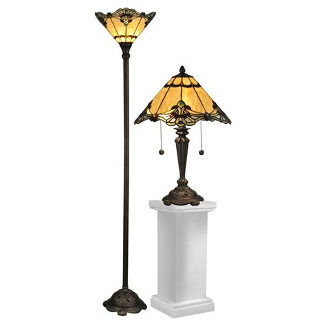 Dale Tiffany Brena Table Lamp And Floor Lamp - Walmart Com.