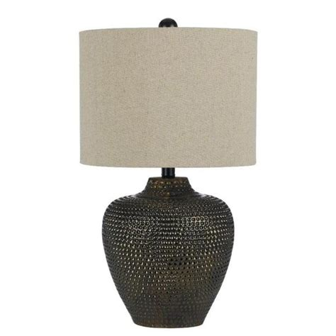 Danbury 22 5 In Brown Ceramic Table Lamp - The Home Depot.
