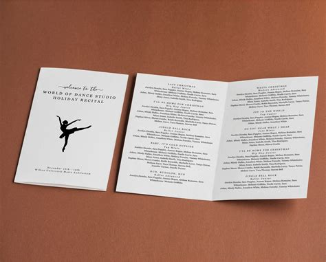 Excellent dance recital program template gallery resume ideas recital template 101 best images about piano recital ideas on pronofoot35fo Image collections