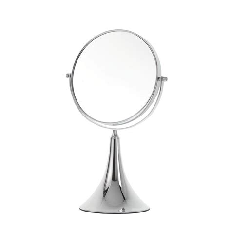 Danielle Creations Small Chrome Trumpet Vanity Mirror 5x .