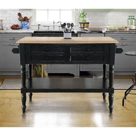 Darby Home Co Brookstonval Kitchen Island Solid Wood From .