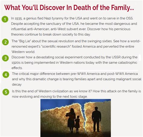 David Seamans Newsletter Death Of The Family.