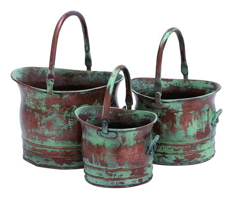 Deco 79 Metal Planter 13-Inch 11-Inch And 9-Inch Set Of 3 -.