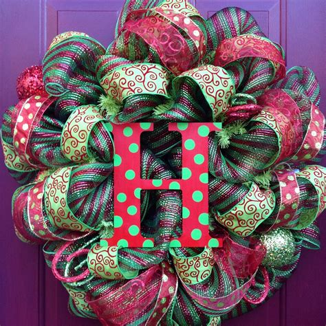 Deco Mesh Wreath Christmas  Etsy.