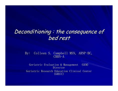 [pdf] Deconditioning The Consequence Of Bed Rest.