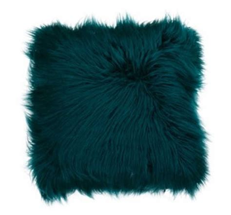 Deep Teal Mongolian Fur Oversized Pillow  Kirklands.