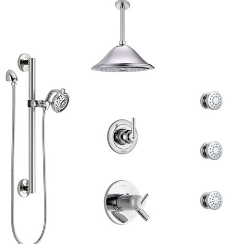 Delta Trinsic Chrome Shower System With Dual Control .