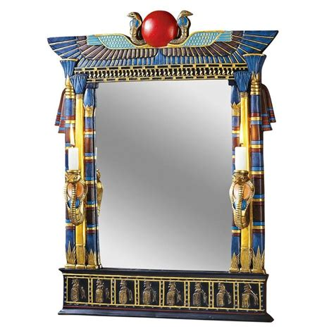 Design Toscano Wadjet Egyptian Wall Mirror With Cobra .