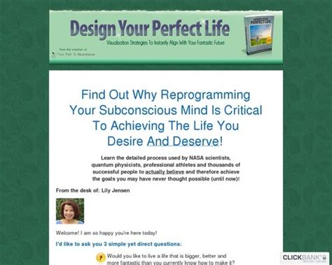 @ Design Your Perfect Life  Your Personal Agreement.