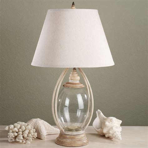 Devin Glass Table Lamp Base  Beach House  Glass Lamp .