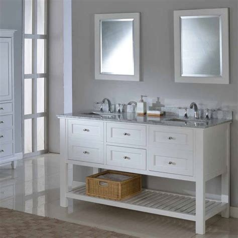 Direct Vanity 60-Inch Pearl White Mission Spa Double .