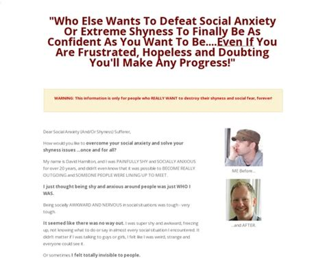 Dissolve Social Anxiety Program - Make Money Onlien Social.