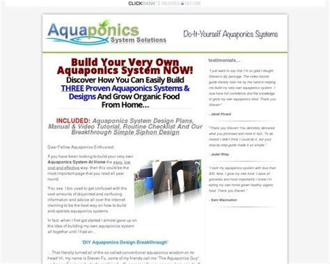Diy Aquaponics Made Easy ~ Brand New ~ High Conversion.