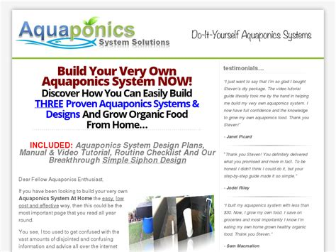 Diy Aquaponics Made Easy ~ Brand New ~ High Conversion! - Http.