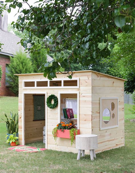 Diy Outdoor Playhouse Plans