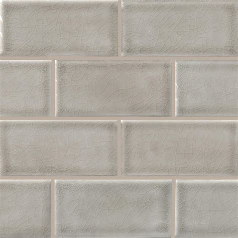 Dove Gray Handcrafted 3 In X 6 In Glazed Ceramic Wall .