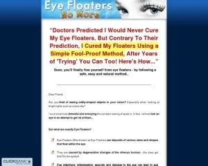 Download Eye Floaters No More ~ New Niche With High Conversions.
