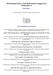 [click]download Mt4 Floating Charts - Full Multi Monitor Support For Metatrader 4 .