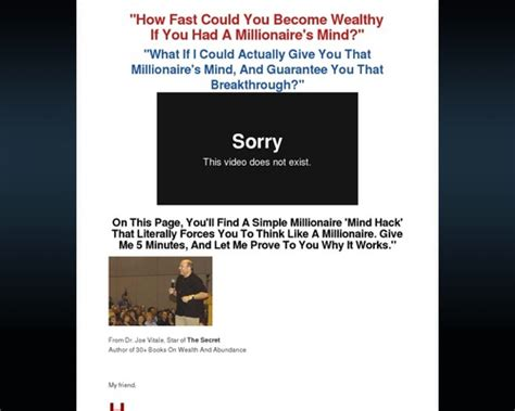 [click]dr Joe Vitale - Wealth Trigger 360 - Video Dailymotion.