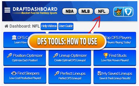 Draft Dashboard: Dfs Lineup Optimizer & Daily Fantasy Sports.
