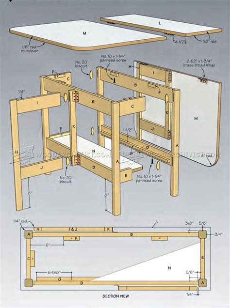 Drop Leaf Table Plans Woodworking Free