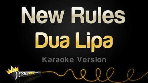 @ Dua Lipa - New Rules Karaoke Version .