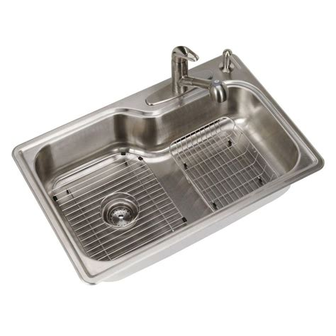 Dual-Mount Single Bowl Kitchen Sink Silver Colored Flange.