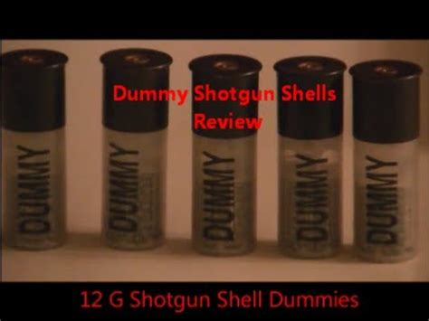 Dummy Shotgun Rounds Review 12 Gauge Blanks Snap Caps Shells.