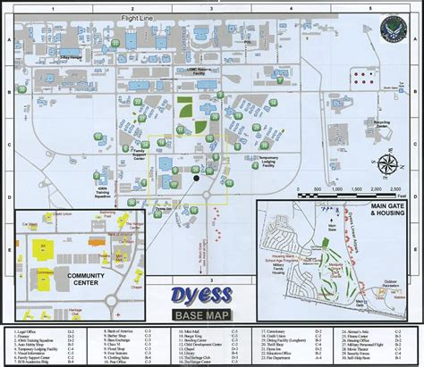 Dyess Air Force Base Map
