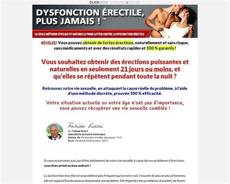 Dysfonction Erectile Plus Jamais. Ed Treatment French Version..