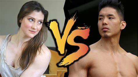 [click]epic Pull-Up Battle The Crossfit Pull-Up Queen Vs Henry Tran.
