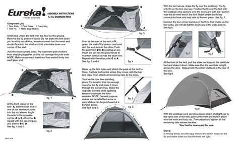 Eureka Tent Assembly Instructions Pdf Download .