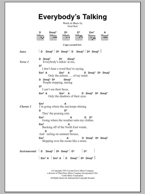 @ Everybodys Talkin Chords Ver 2 By Harry Nilsson .
