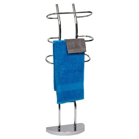 Evideco 9625102 Towel Valet 3 Curved Bars Metal Chrome .