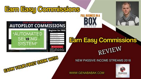 Earn Easy Commissions Review - Gena Babak.