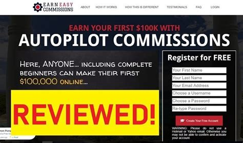Earn Easy Commissions Review 2019 [truth About $100,000.