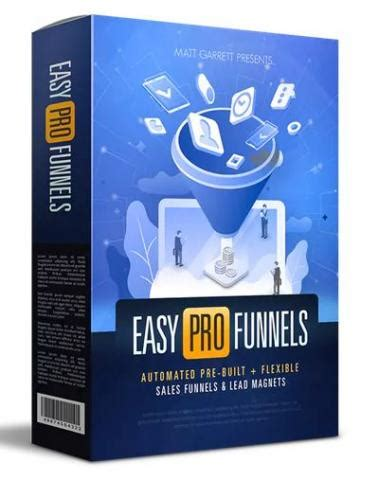 Easy Pro Funnels Matt Garrett Internet Marketing Promotion Softw.