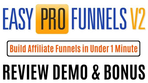 Easy Pro Funnels Review Full Demo With Bonus - Youtube.
